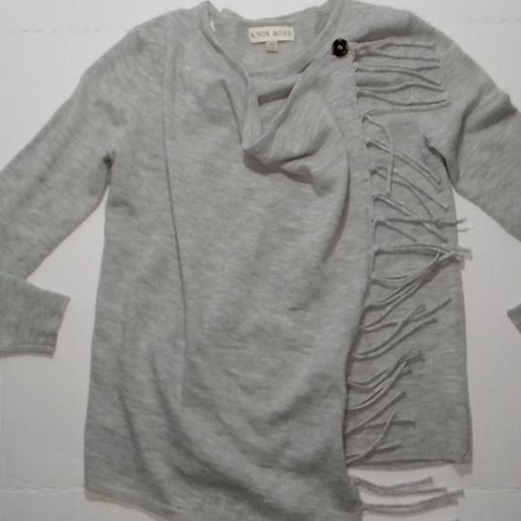 Knox Rose, knit Sweater Gray XS